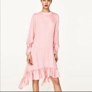 Zara pink ruffle dress
